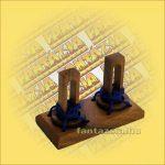 Trópusi Fa Logikai Játék - ördöglakat két karikás 032-1 7x14,5x10cm