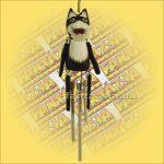 Szélcsengő -Fekete macska