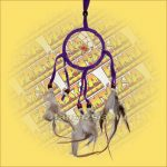 Álomfogó (Álomőrző,Álomcsapda) lila 7cm