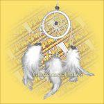 Álomfogó (Álomőrző,Álomcsapda) fehér 6cm