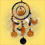 Álomfogó (Álomőrző,Álomcsapda) narancs, tükrös 12cm