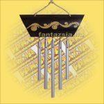 Csengősor Bambusz-Virág mintával és Öt csővel