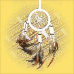 Álomfogó (Álomőrző,Álomcsapda) velúr fehér 6cm