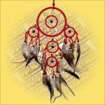 Álomfogó (Álomőrző,Álomcsapda) dupla piros 12cm