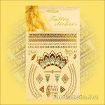 Fényes Fémtetoválás (Aranytetoválás) Egyiptomi mintával