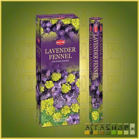 HEM Lavender Fennel/HEM Levendula Édeskömény illatú indiai füstölő