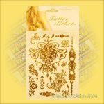 Fényes Fémtetoválás (Aranytetoválás) Barokk szimbólumokkal