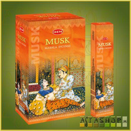HEM Musk/HEM Pézsma illatú indiai maszala füstölő