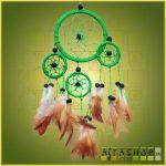Álomcsapda (álomfogó) zöld 9cm, 1nagy+3kicsi