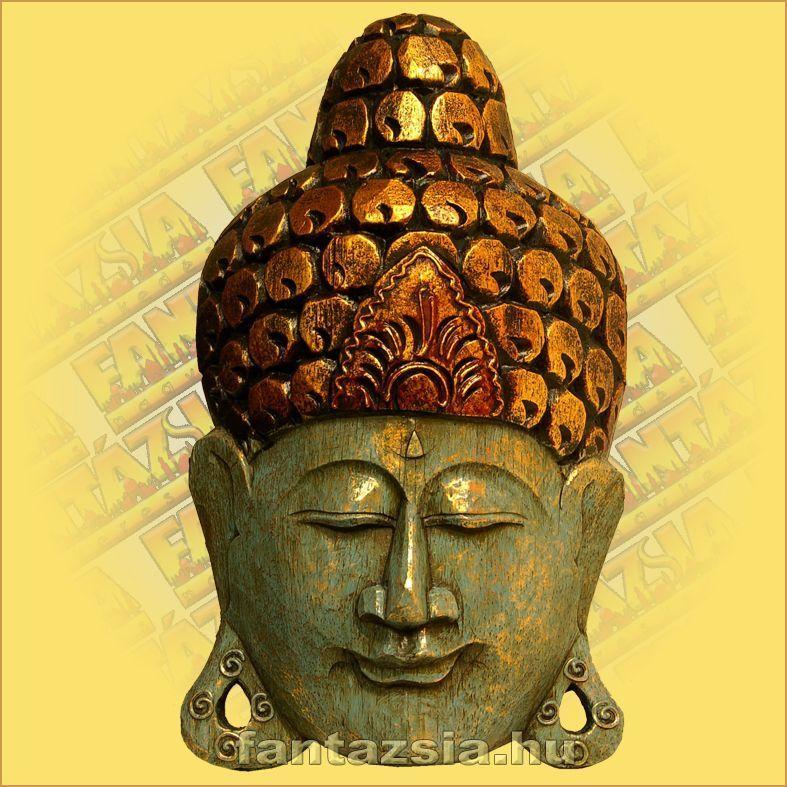 Buddha Arc Maszk kék 30cm