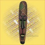Maszk Aboriginal Festéssel Széles 1m A