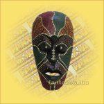 Maszk Aboriginal Festéssel mini  E