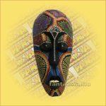 Maszk Aboriginal Festéssel kicsi  B