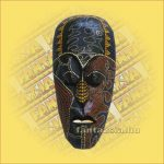 Maszk Aboriginal Festéssel kicsi  C