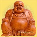 Buddha Szerencsehozó 15cm -Trópusi fa