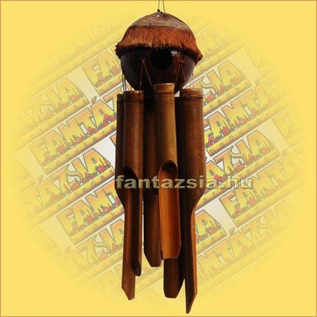 Szélkolomp Bambuszból Kókuszgömb Házzal