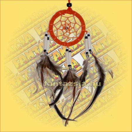 Álomfogó (Álomőrző,Álomcsapda) velúr narancssárga 6cm