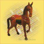 Ló Figura Trópusi Fából Faragott és Festett