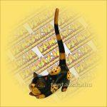 Macska Görbehátú Trópusi Fából