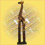 Zsiráf Trópusi Fából 100cm A