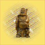 Buddha Szobor Álló,Natúr és Festett 30cm