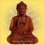 Buddha Szobor Ülő-Sono Fából 30cm