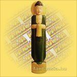 Buddha Szobor Álló Zöld