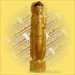 Buddha Szobor Álló Arany