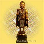Buddha Szobor Álló Arany 60 cm