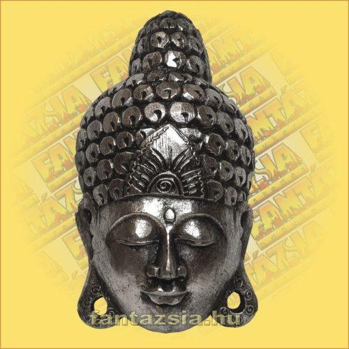 Buddha Arc Maszk ezüst 40 cm
