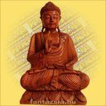 Buddha Szobor Ülő-Sono Fából 60cm