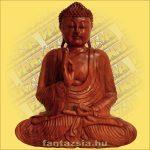Buddha Szobor Ülő-Sono Fából 50cm