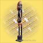 Maori-Asmat szobor 80 cm