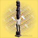 Maori-Asmat szobor 80 cm,lány