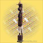 Maori-Asmat szobor kalapos, 80 cm