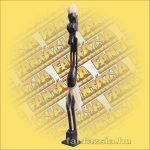 Maori-Asmat szobor vékony 100cm