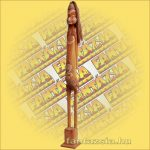 Maori-Asmat szobor álló 100 cm,barna