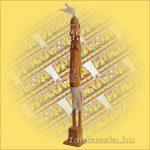 Maori-Asmat szobor álló ,barna