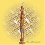 Maori-Asmat szobor barna,lány 100 cm