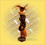 Maori-Asmat figura,fiu 25 cm