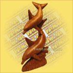 Delfinek Szobor Trópusi Fából