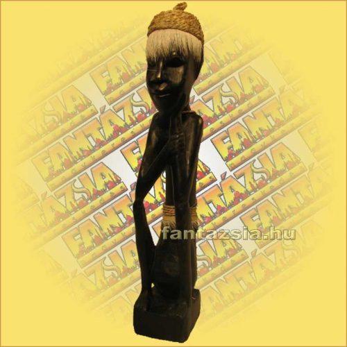 Szobor Antikolt Mahagóni Fából (lomboki) lomboki B