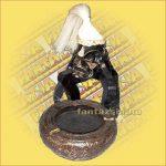 Hamutartó Asmat Harcos (Pápua-Tiki Törzs) Figurával A