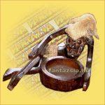 Hamutartó Asmat Harcos (Pápua-Tiki Törzs) Figurával B