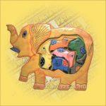 Trópusi Fa Puzzle mix elefánt