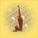 Macska Gyűrűtartó, Trópusi Fából Nyújtozkodó 25cm A