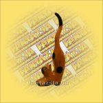Macska Gyűrűtartó, Trópusi Fából Nyújtozkodó 25cm 25cm C