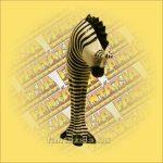 Zebra Figura Trópusi Fa,Festett