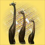 Zsiráf Ülő Trópusi Fából 80cm