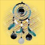 Álomfogó (Álomőrző,Álomcsapda) kék, tükrös 12cm
